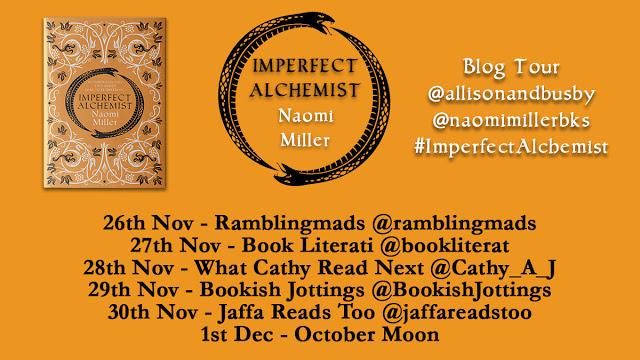 Imperfect Alchemist blog tour Twitter banner